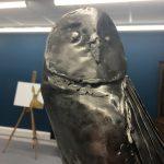 Metal Sculpture Owl