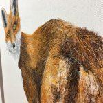 Textile Art Fox