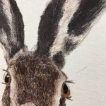 Textile Art Hare